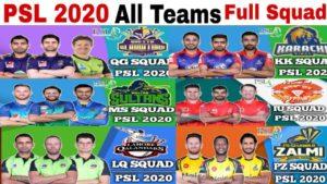 PSL All teams players list