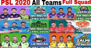 PSL All teams players list