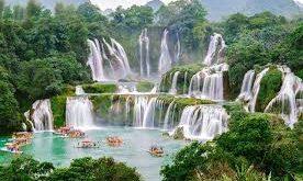 beautiful china waterfall hd wallpaper