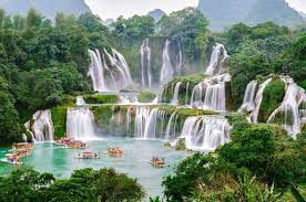 beautiful china waterfall hd wallpaper